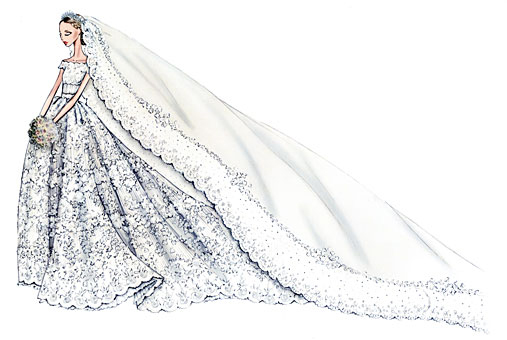 Princess Madeleine wedding dress: details of the Valentino dress