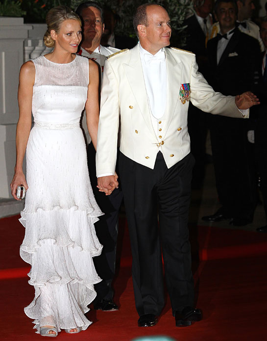 A vision in white, Charlene gets set to celebrate her nuptials