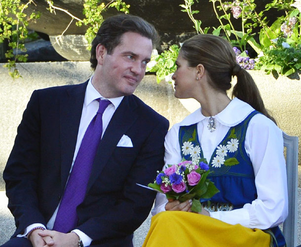 Chris O Neill Kisses Princess Madeleine In A Moment Of True Affection Two Days Ahead Of Their