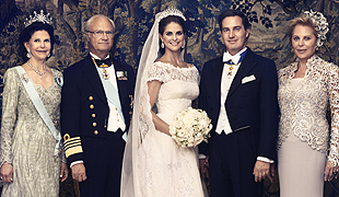 Princess Madeleine and Chris O'Neill's official royal wedding photographs