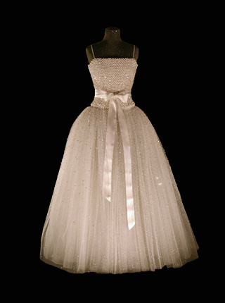Madeleine wore this ball gown for the wedding reception.