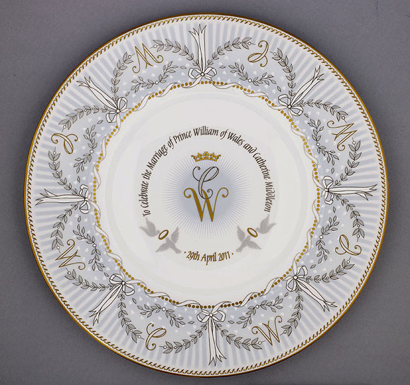 plate--a Kate William Wedding Photos
