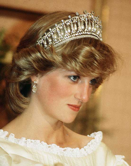 princess diana wedding tiara. tiara to Princess Diana as