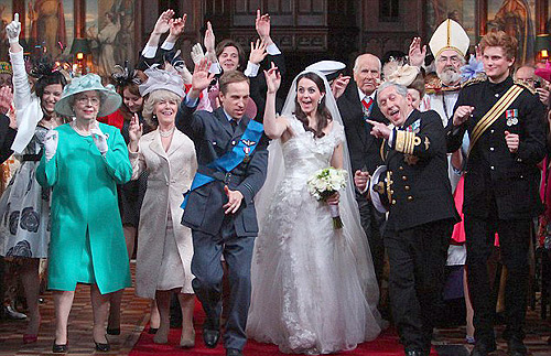 Royal wedding the moment prince william and kate middleton danced down the aisle
